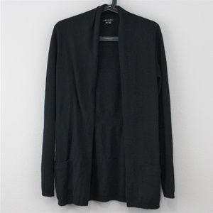 Theory  Cashmere Black Open Cardigan Sweater C447